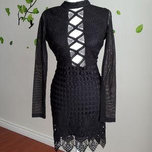 Windsor Black Sexy Lace Dress Size Small